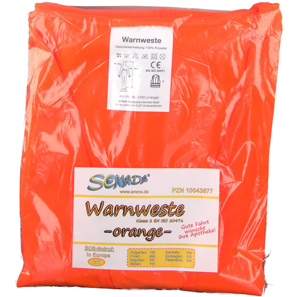 Senada® Warnweste orange