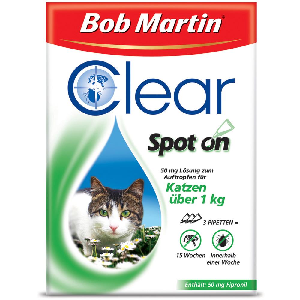 bob martin clear spot on 50 mg l sung f r katzen shop. Black Bedroom Furniture Sets. Home Design Ideas