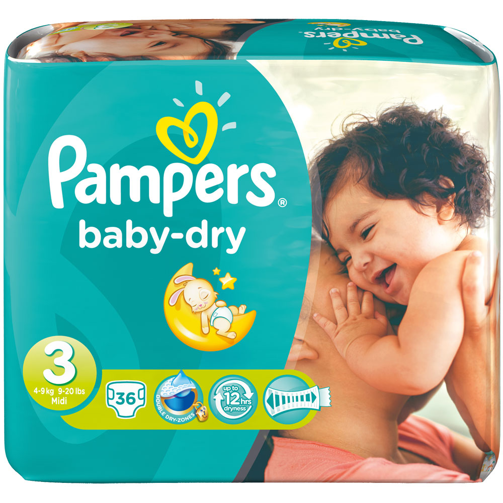 pampers baby dry 3 sparpack