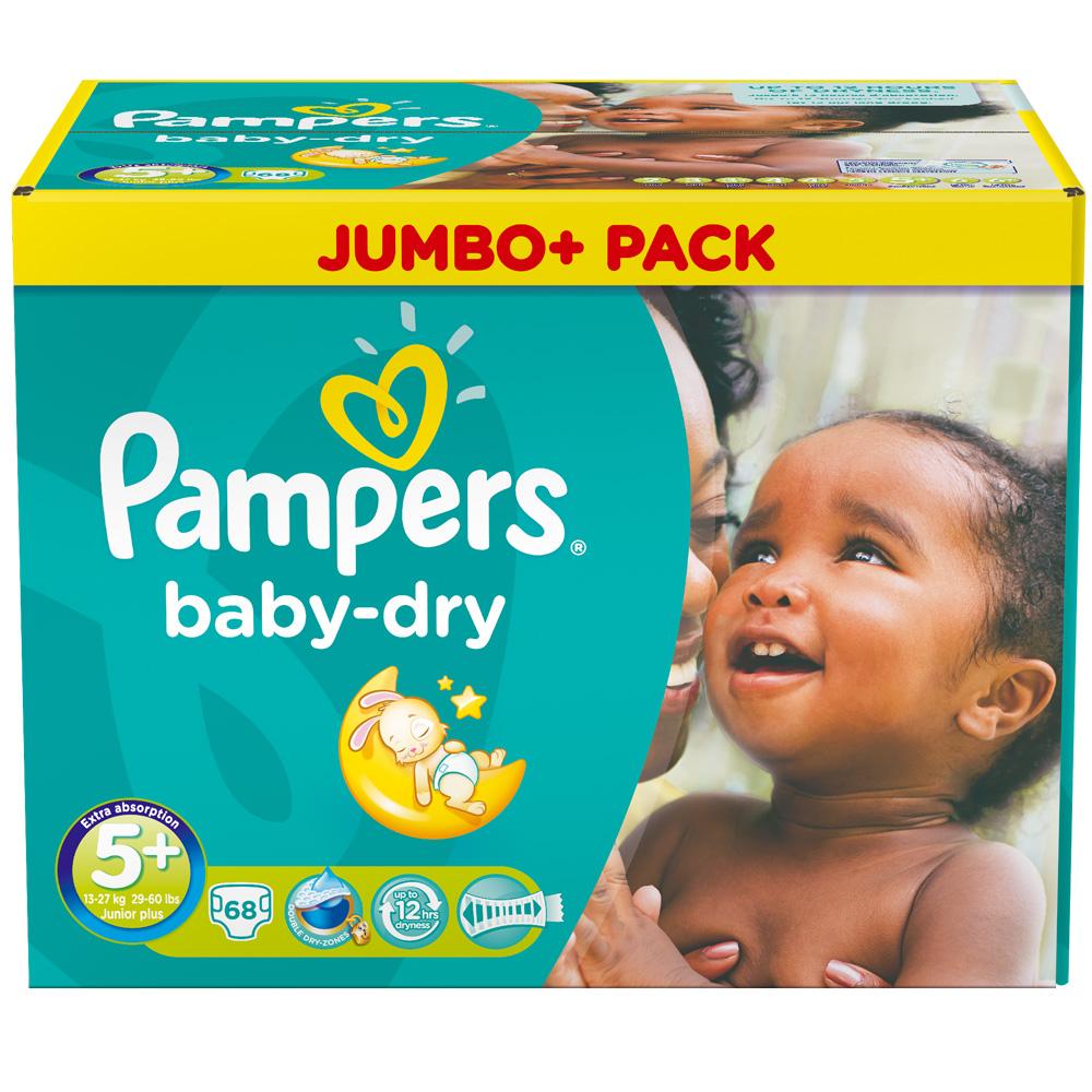 Pampers® baby-dry Gr.5+ Junior Plus 13-27kg Jumbo Plus Pack