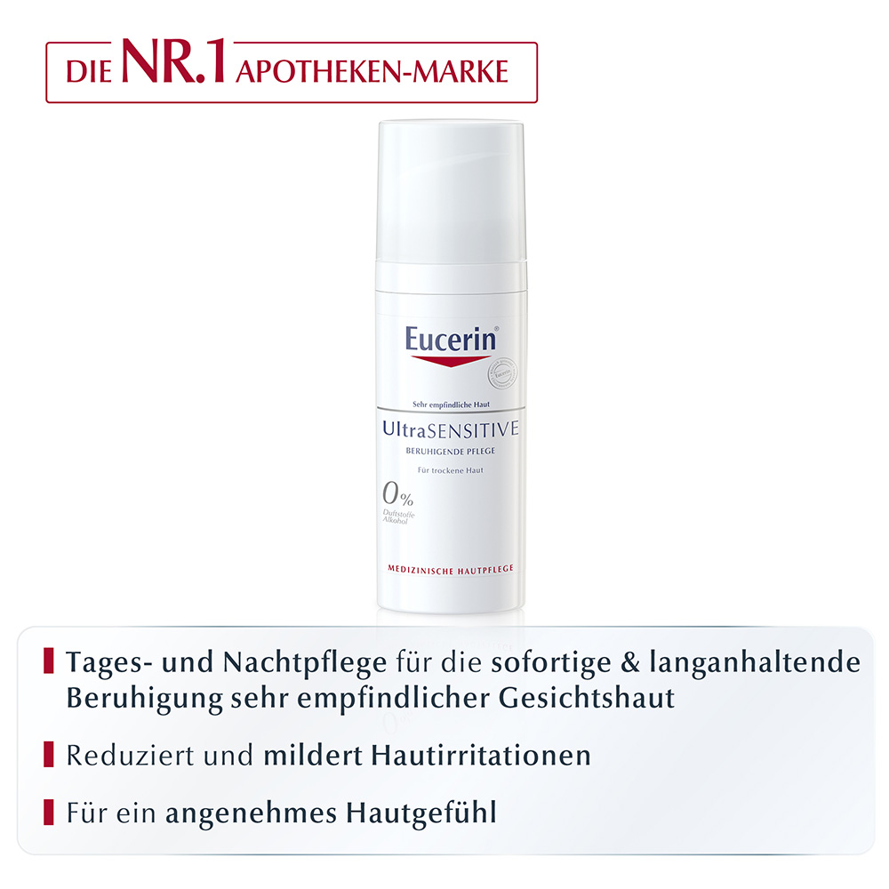 eucerin ultrasensitive beruhigende pflege f r trockene haut shop. Black Bedroom Furniture Sets. Home Design Ideas