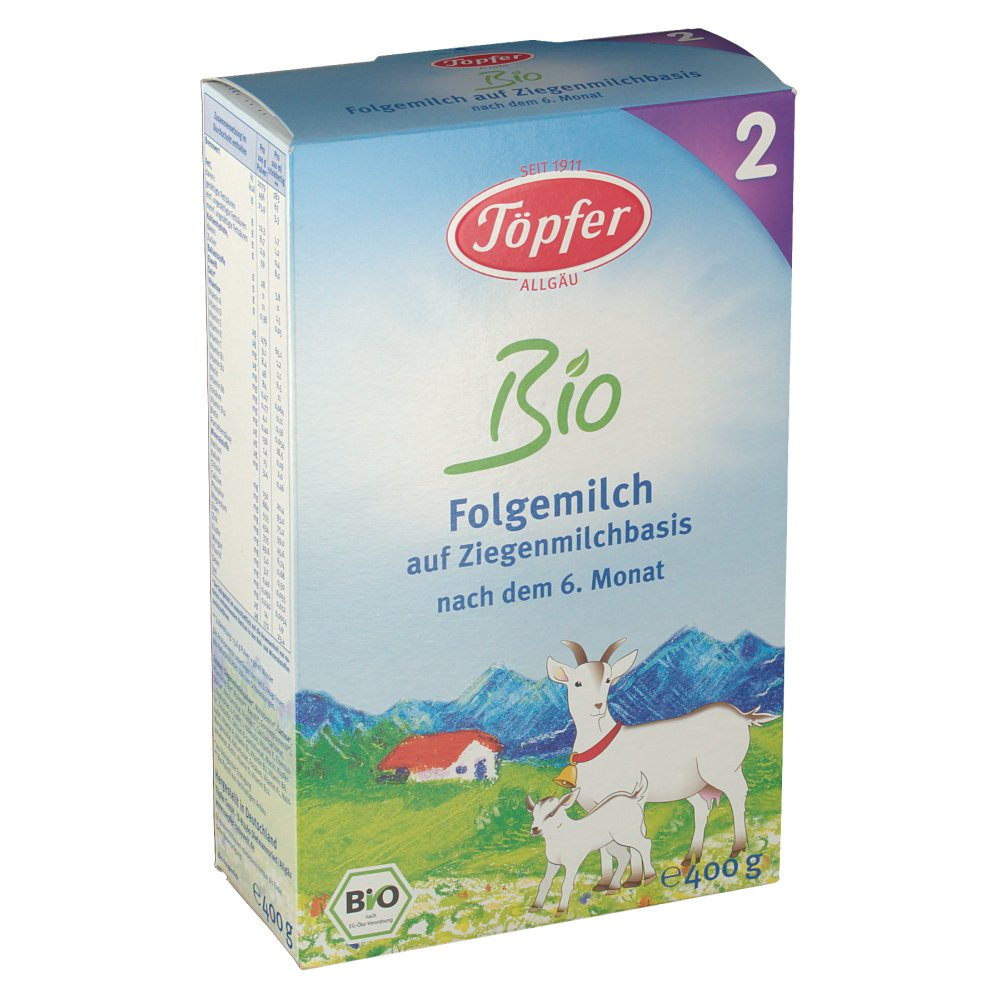 Töpfer Bio Folgemilch 2 auf Ziegenmilchbasis