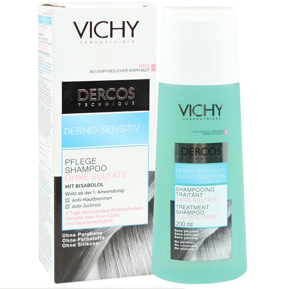 vichy dercos dermo sensitiv shampoo ohne sulfate shop. Black Bedroom Furniture Sets. Home Design Ideas