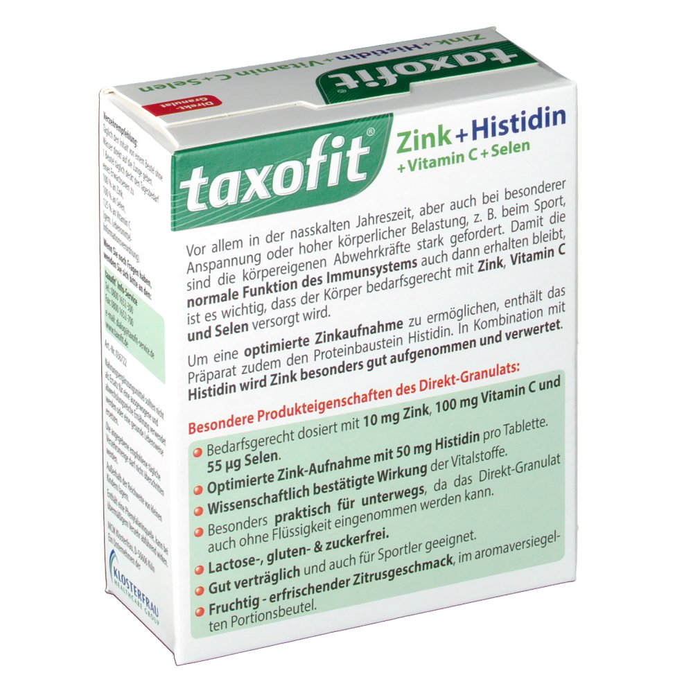 Taxofit Zink Histidin Depot Granulat Shop