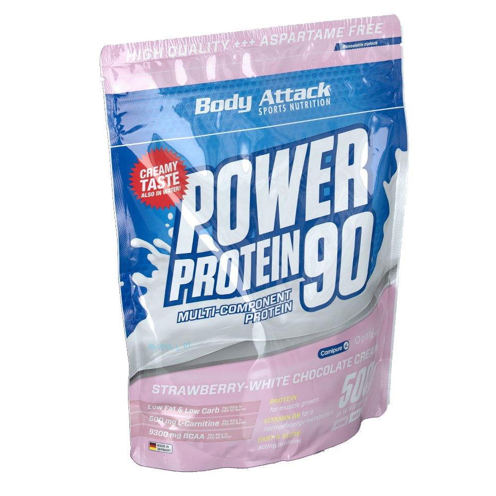 Body Attack Power Protein 90 Strawberry white C...