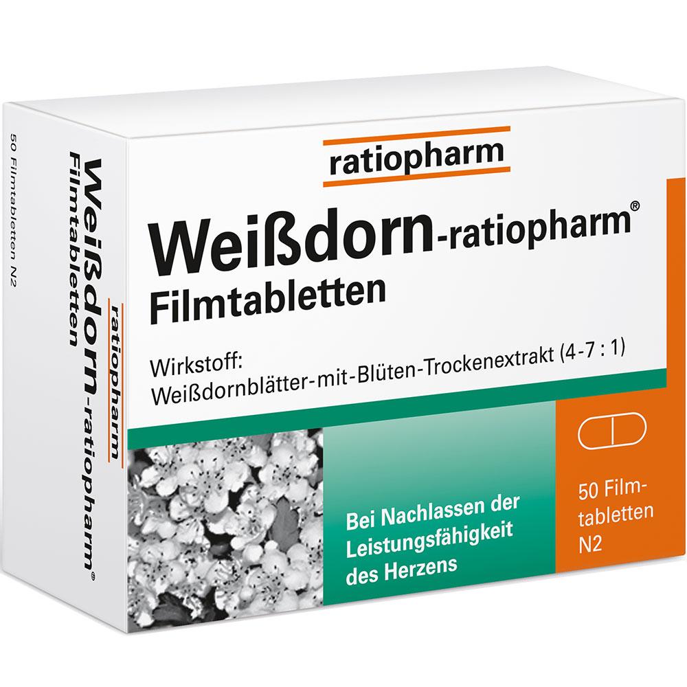 Weissdorn-ratiopharm® Filmtabletten bei Shop-Apotheke