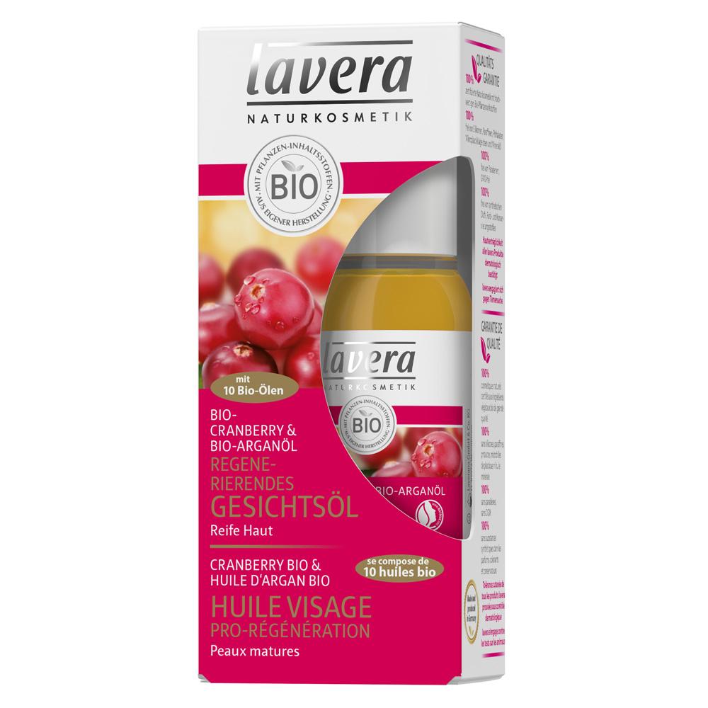 lavera Regenerierendes Gesichtsöl Bio-Cranberry & Bio-Arganöl