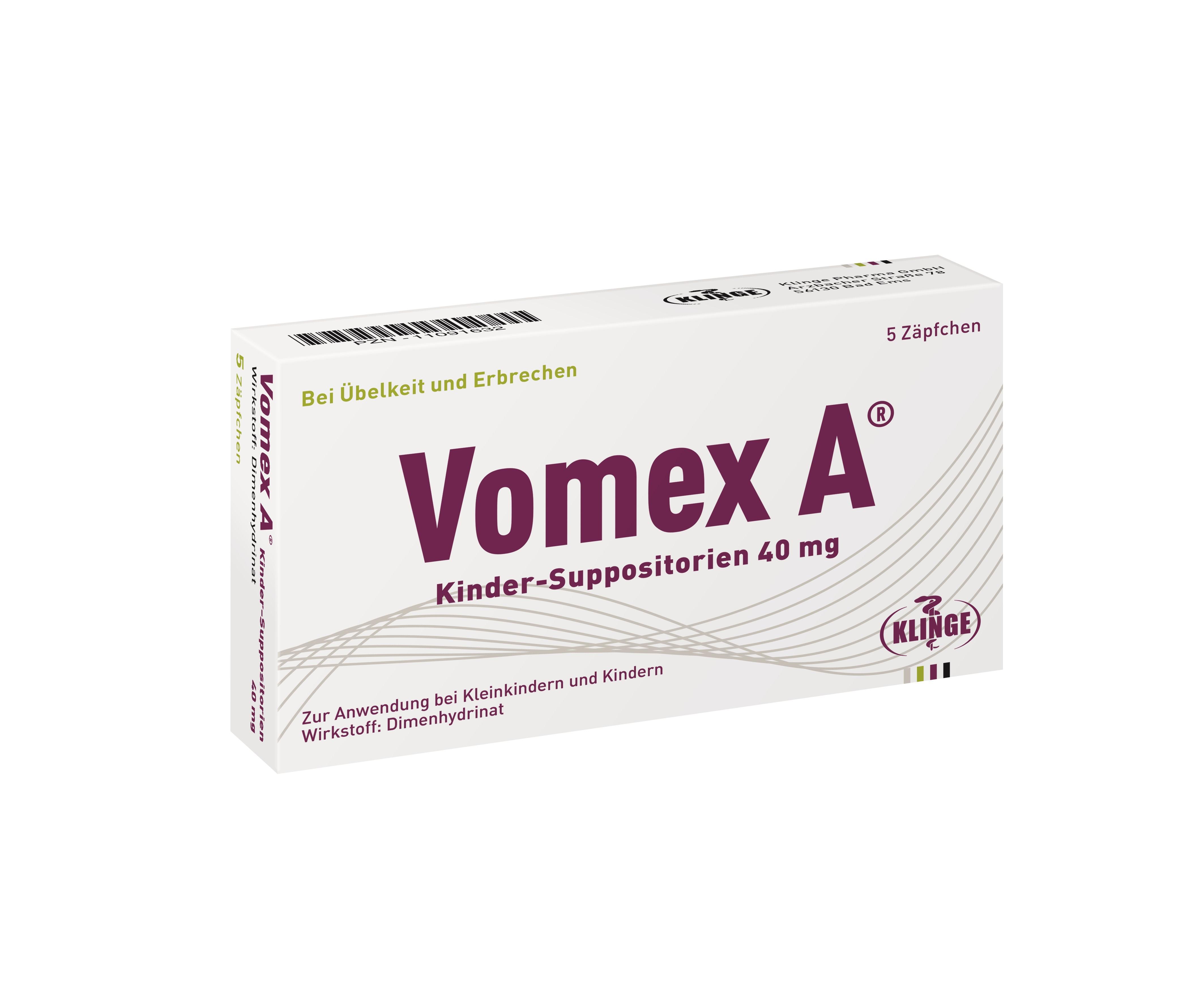 Vomex A® Kinder-Suppositorien 40mg