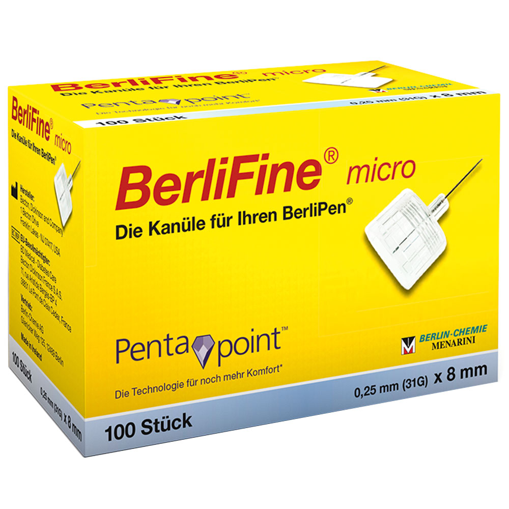 BerliFine® micro Kanülen 0,25 x 8 mm
