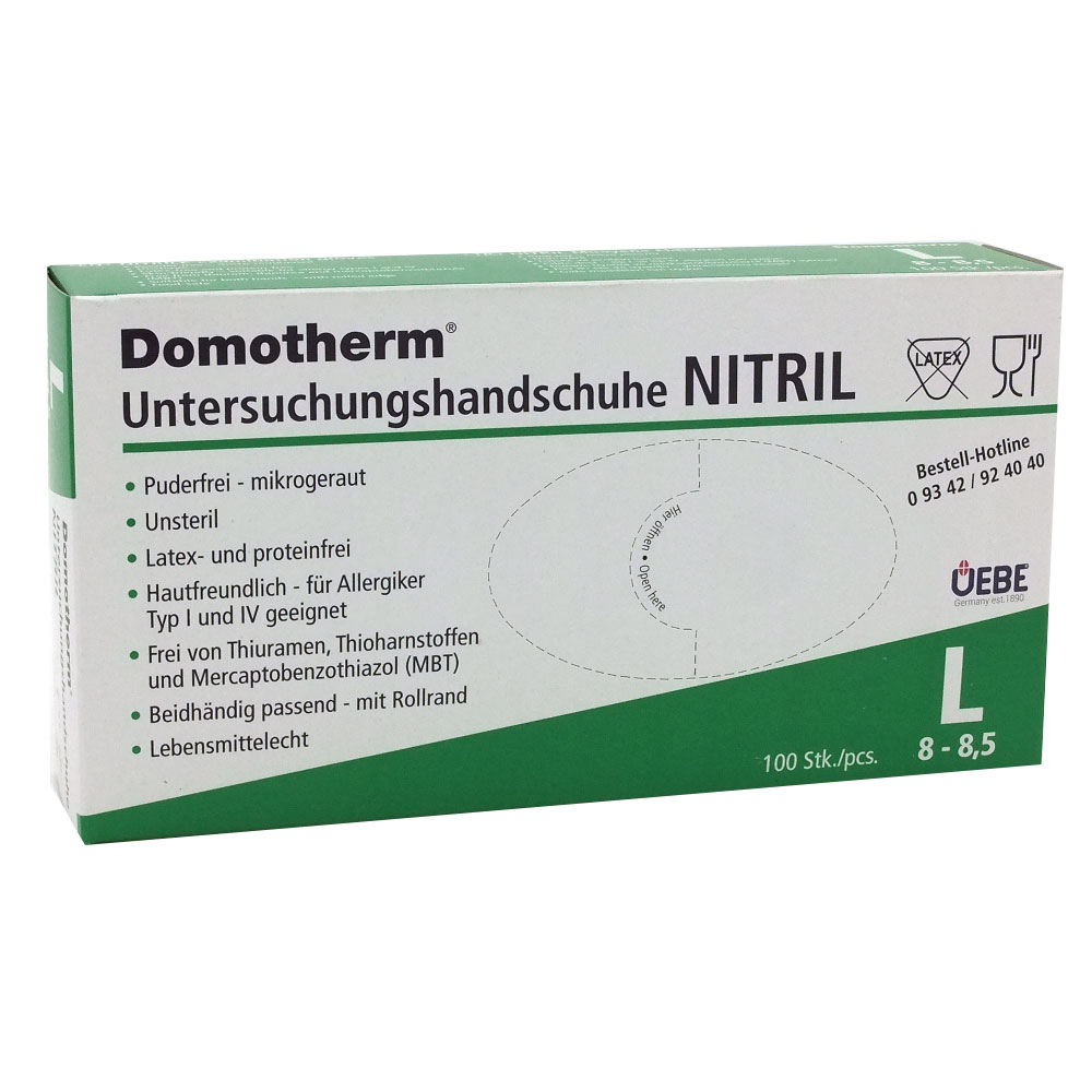 Domotherm® Untersuchungshandschuhe Nitril L 8-8,5