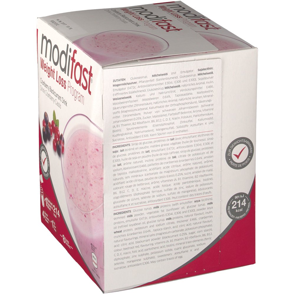 Modifast 174 Weight Loss Program Cranberry Cassis Drink