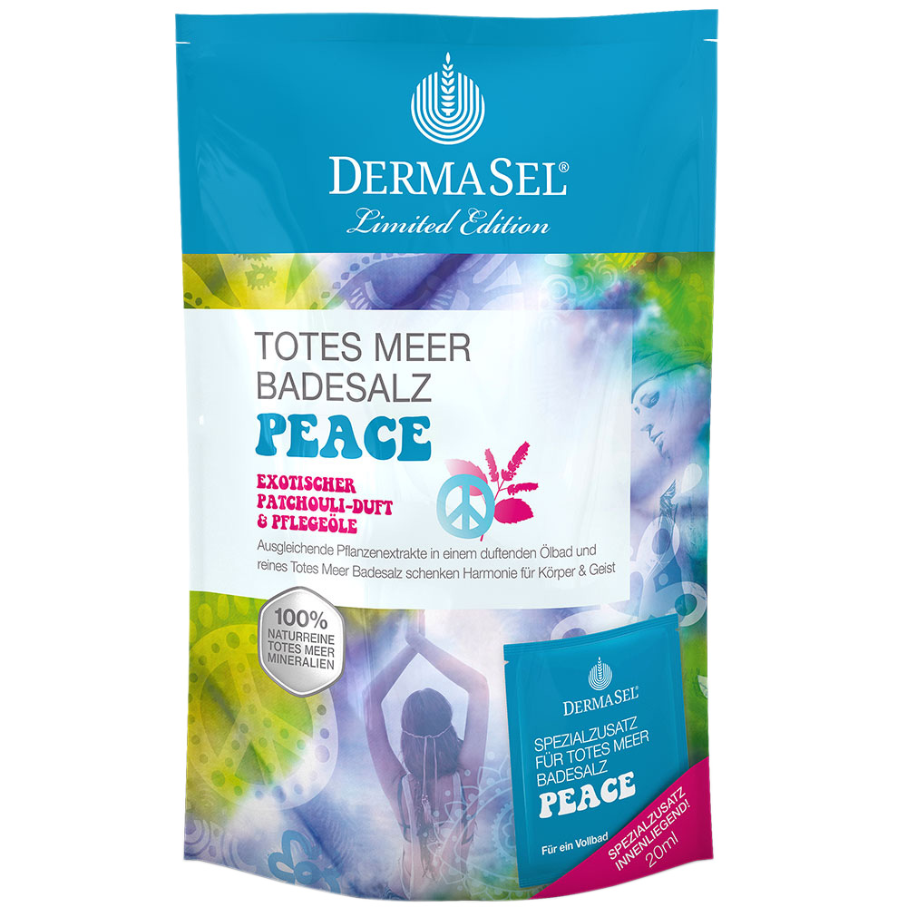 Dermasel® Totes Meer Badesalz + Peace Limited E...