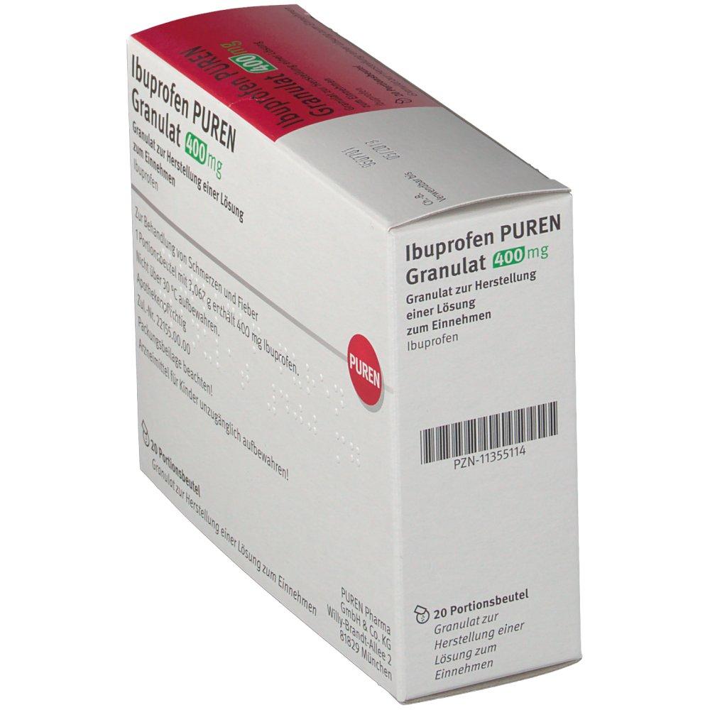ibuprofen puren granulat 400 mg shop. Black Bedroom Furniture Sets. Home Design Ideas