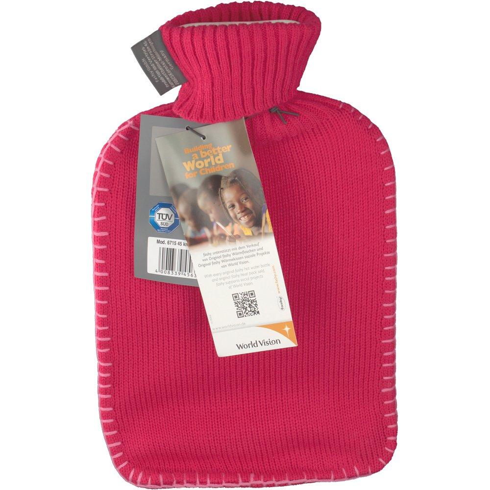 fashy Wärmflasche mit Rollkragenstrickbezug fuchsia