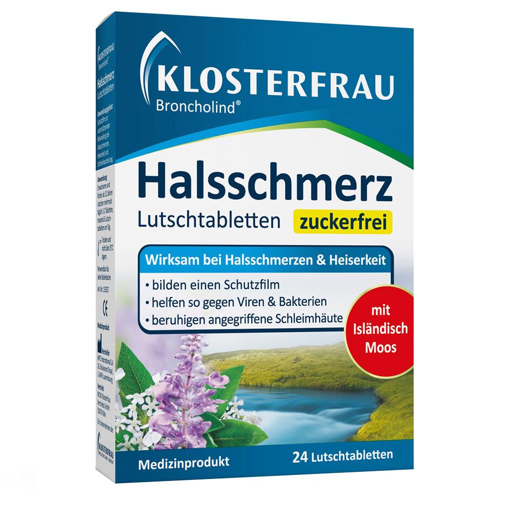 Klosterfrau Broncholind® Halsschmerz-Lutschtabletten zuckerfrei