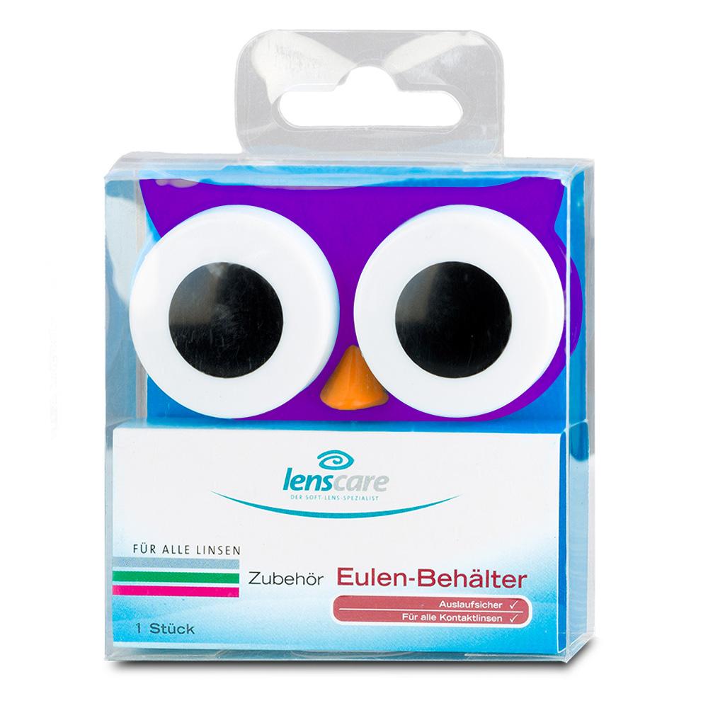 Lenscare Kontaktlinsenbehälter Eule violett