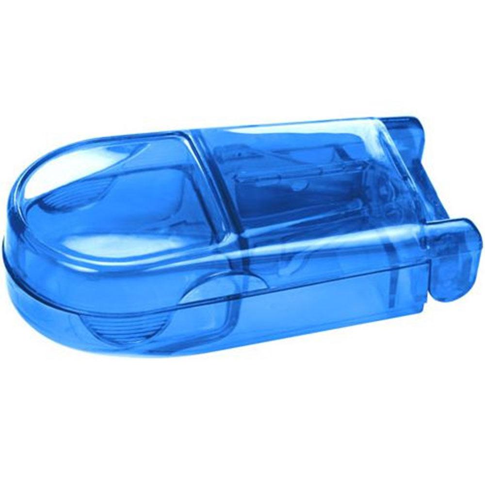 Pillenteiler mit Aufbewahrungsbox blau/transparent