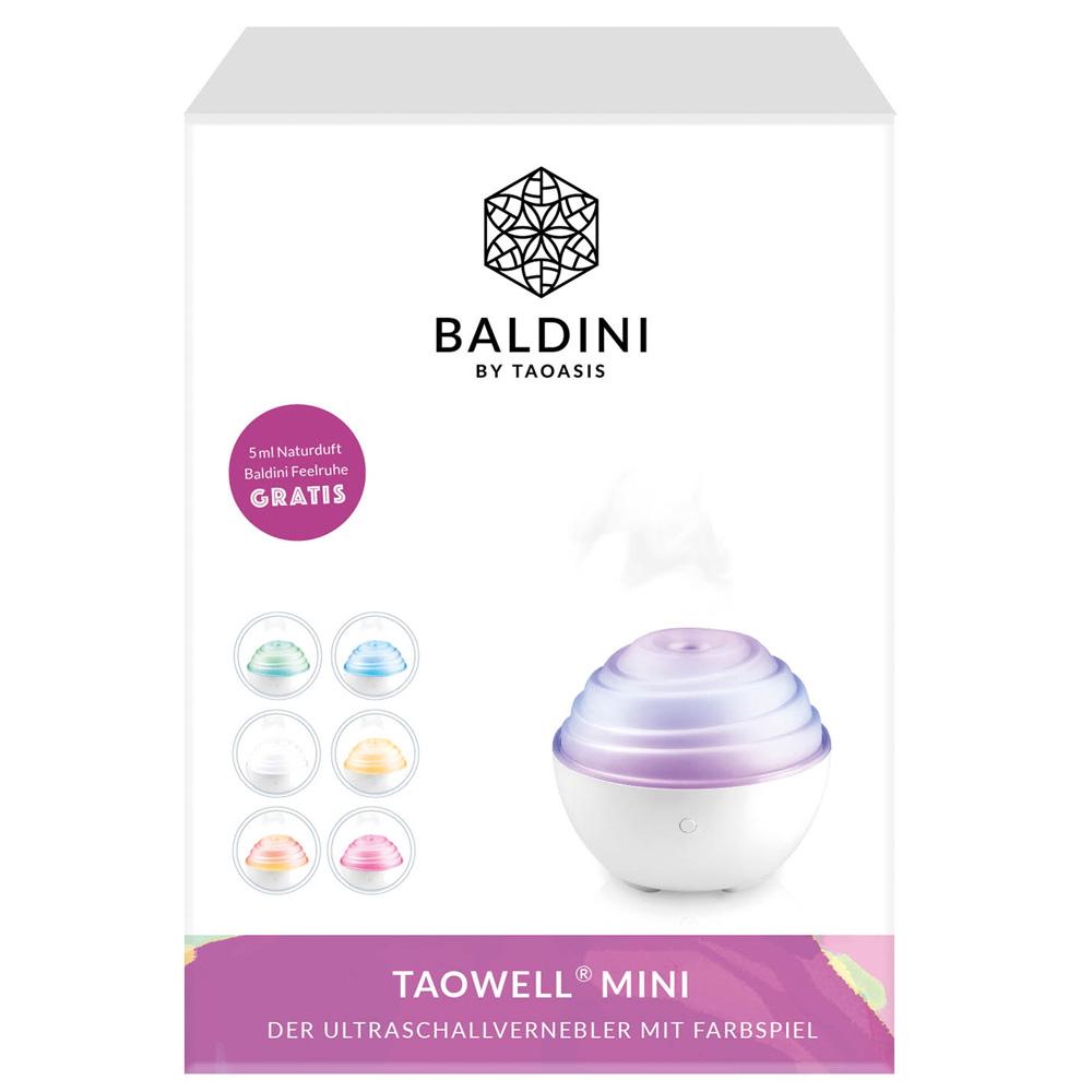 Taowell® Mini der Ultraschallvernebler mit Farbspiel + 5 ml Naturluft Baldini Feelruhe®