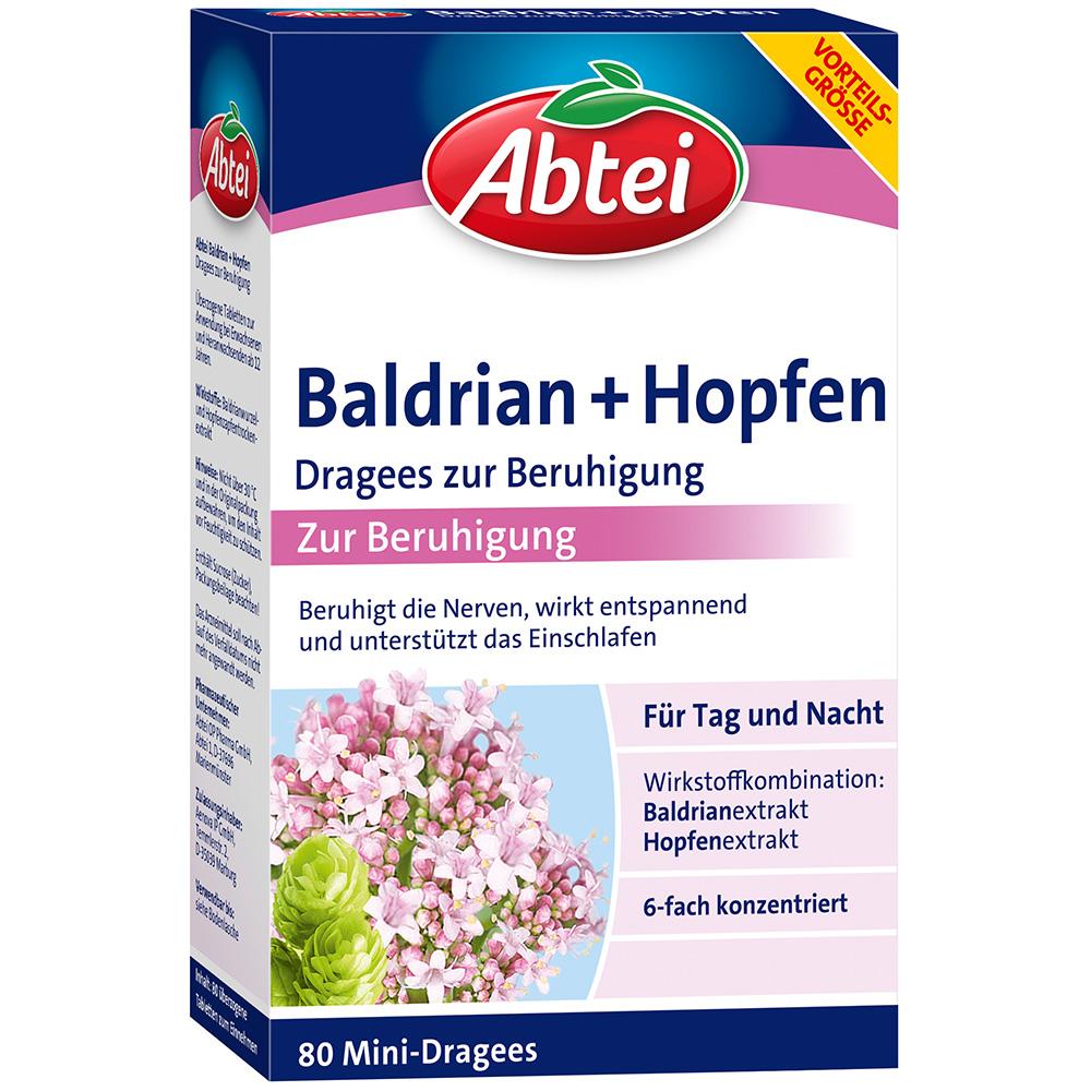 Abei Baldrian + Hopfen Dragees zur Beruhigung