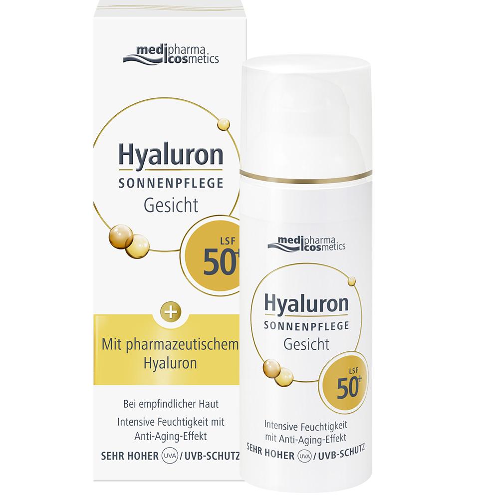 medipharma cosmetics Hyaluron Sonnenpflege Gesicht LSF 50..