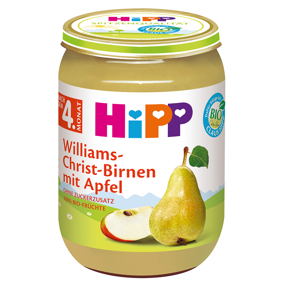 HiPP Williams-Christ-Birnen mit Apfel
