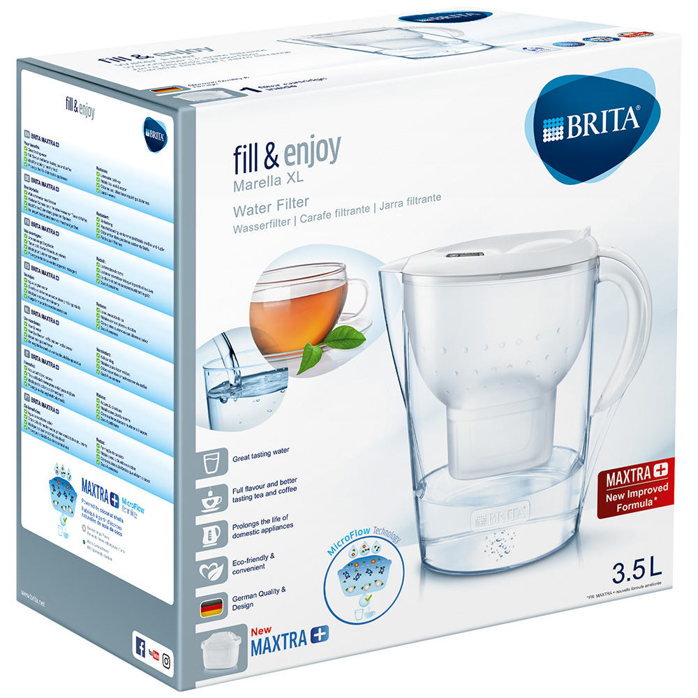 brita fill enjoy marella wasserfilter 3 5 liter wei shop. Black Bedroom Furniture Sets. Home Design Ideas