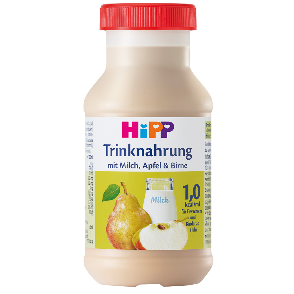 HiPP Trinknahrung Milch, Apfel und Birne