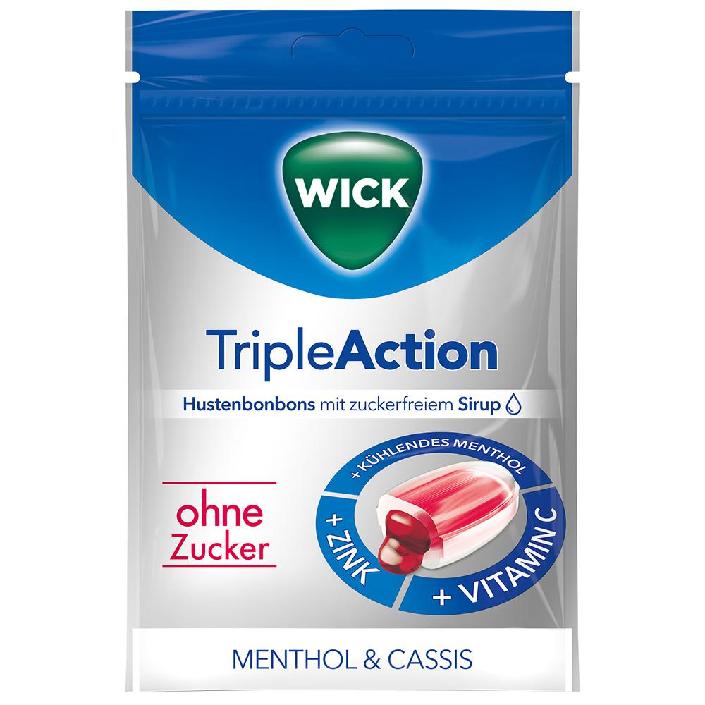 Wick TripleAction Menthol & Cassis ohne Zucker
