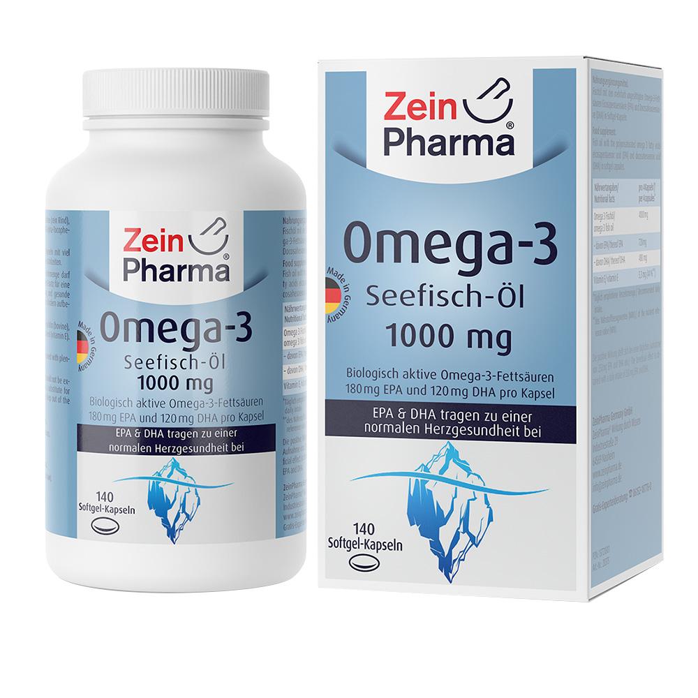 Zein Pharma®Omega-3 Seefisch-Öl 1000 mg