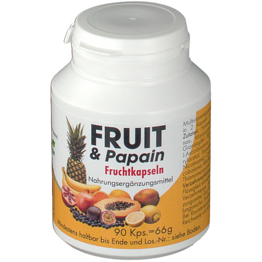Fruit & Papain Fruchtkapseln