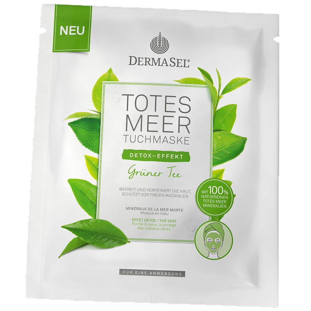 Dermasel® Totes Meer Tuchmaske grüner Tee