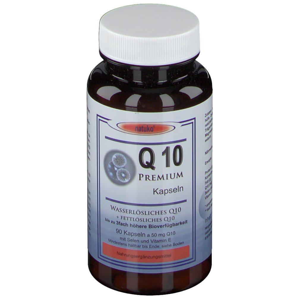 Q10 Kapseln 50 mg natürlich wasserlöslich