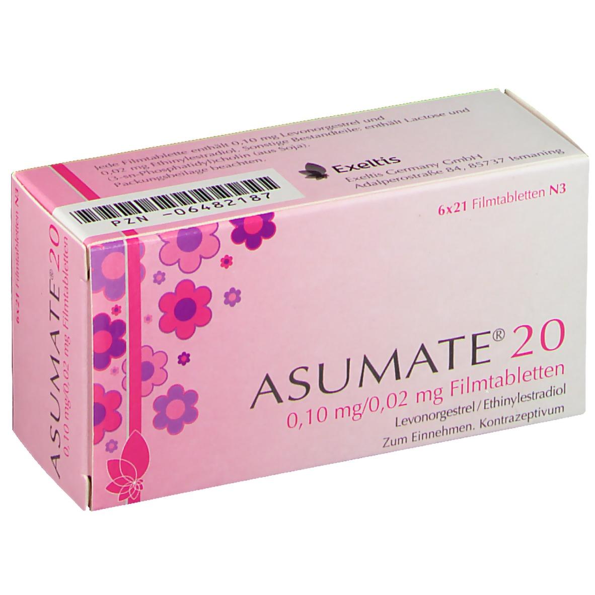 ASUMATE 20 0,10mg/0,02mg 6X21 St - shop-apotheke.com