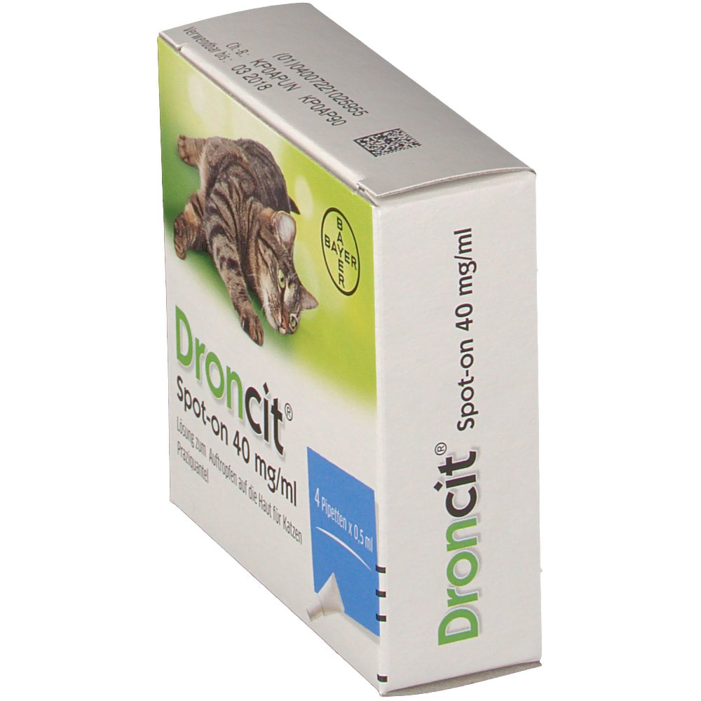 Droncit® Spot-On 40 mg/dl für Katzen 4X0 5 ml - shop-apotheke com