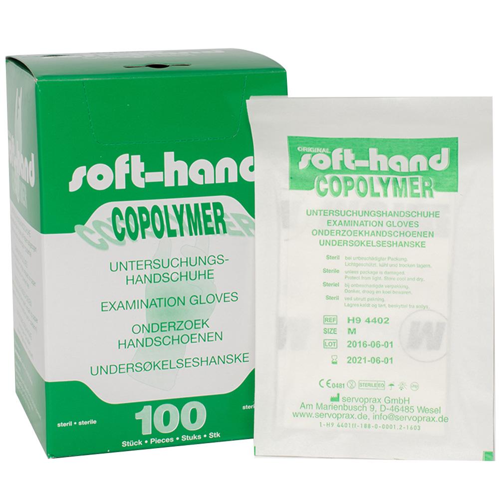 Einmalhandschuhe Softhand Copolymer steril Gr. M 100 St