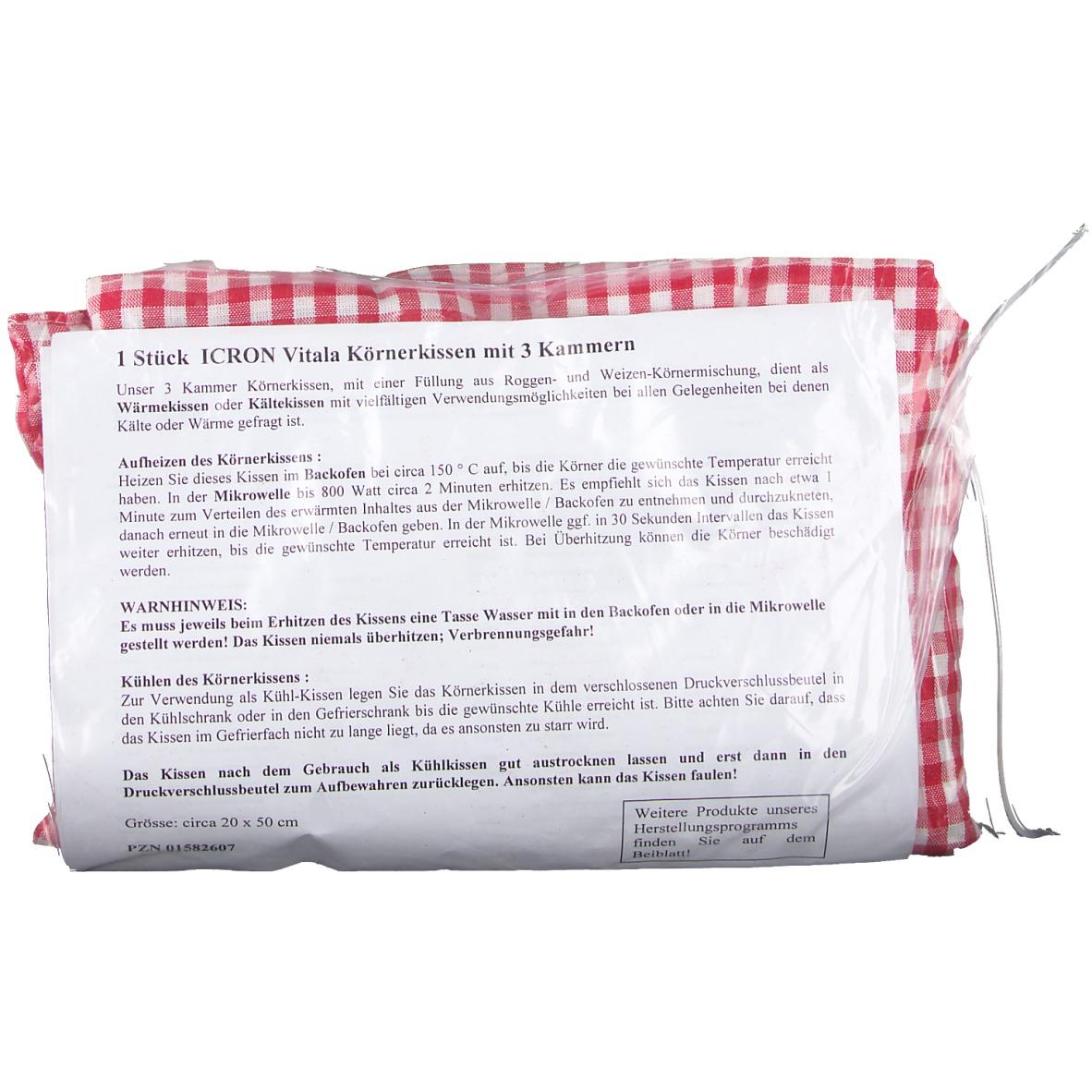 Bevorzugt ICRON Vitala® Körnerkissen mit 3 Kammern 20 x 50 cm 1 St - shop SW95