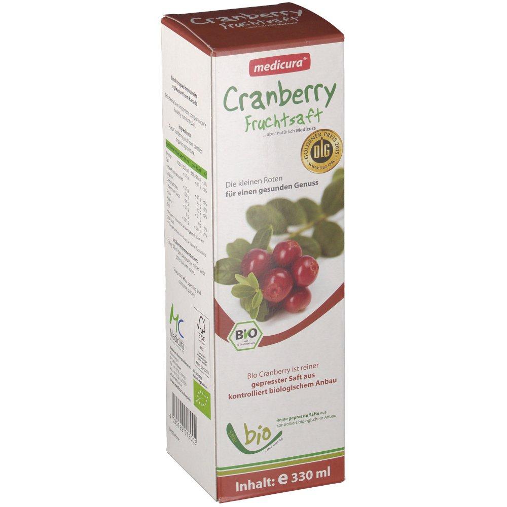 Medicura Cranberry Fruchtsaft Bio