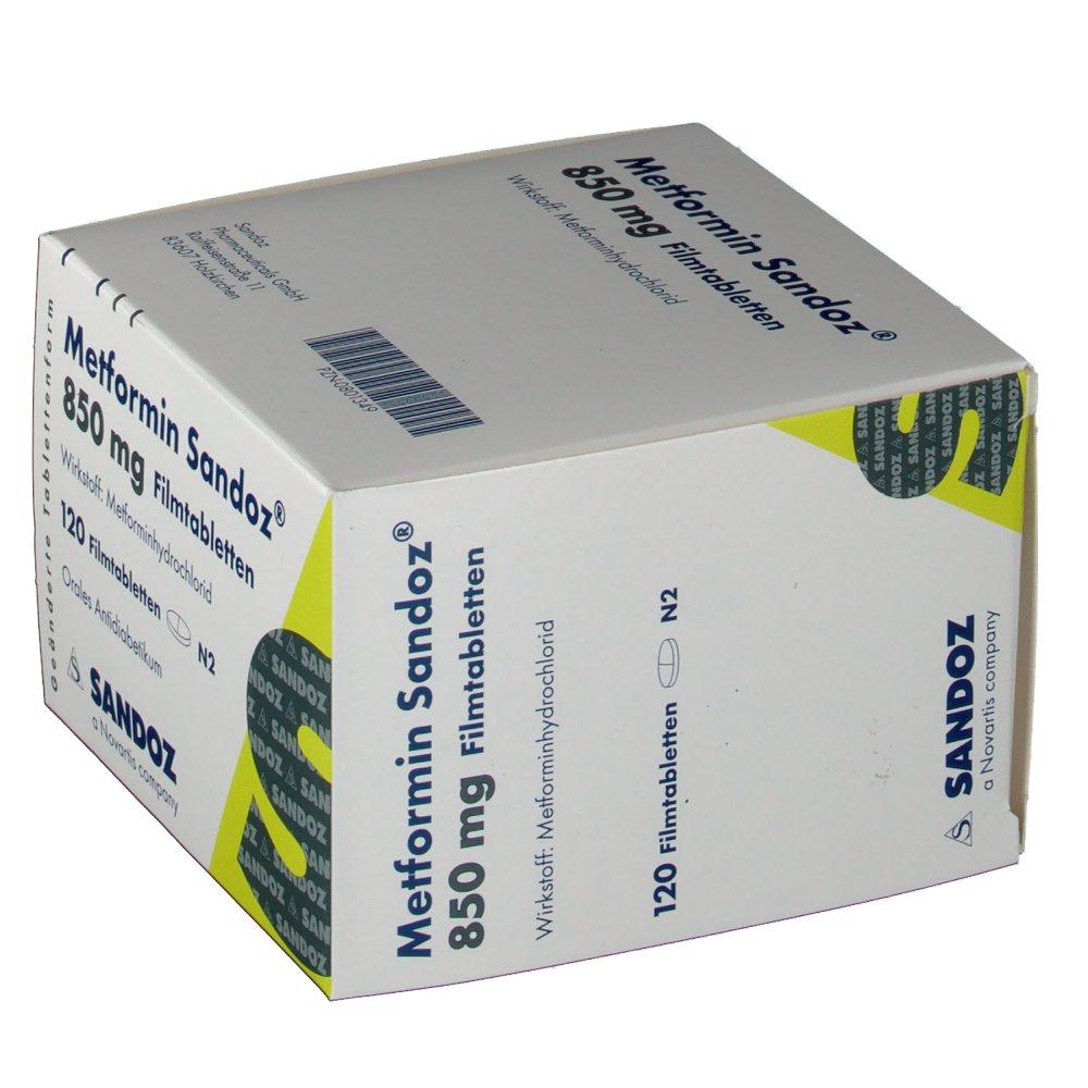 Metformin Sandoz 850 mg zur Gewichtsreduktion