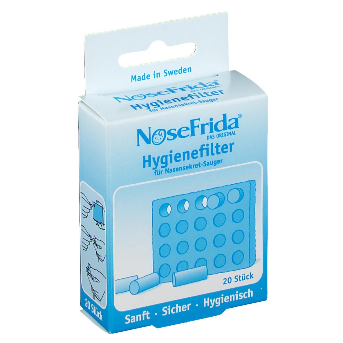 20 Ersatzfilter für Nose Frida Baby Nasensauger Nosefrida