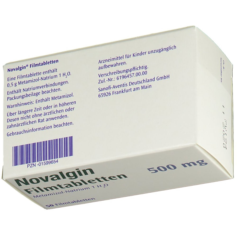 novalgin 500 mg tabletten