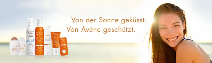 Avène Sonnenschutz: Von der Sonne geküsst, von Eau Thermale Avène beschützt.
