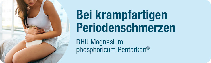 Liegende Frau - Bei krampfartigen Periodenschmerzen: DHU Magnesium phosphoricum Pentarkan