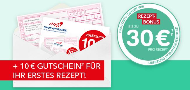 Bis zu 30€ pro Rezept – Zusätzlich 10€-Gutschein für Ihr erstes Rezept.