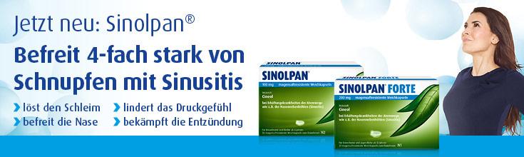 Sinolpan® bei Schnupfen mit Entzündungen der Nasennebenhöhlen